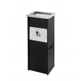 Cinzeiro Papeleira Box 1 Preto