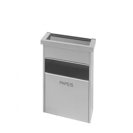 Cinzeiro papeleiro Big Box 3 Inox