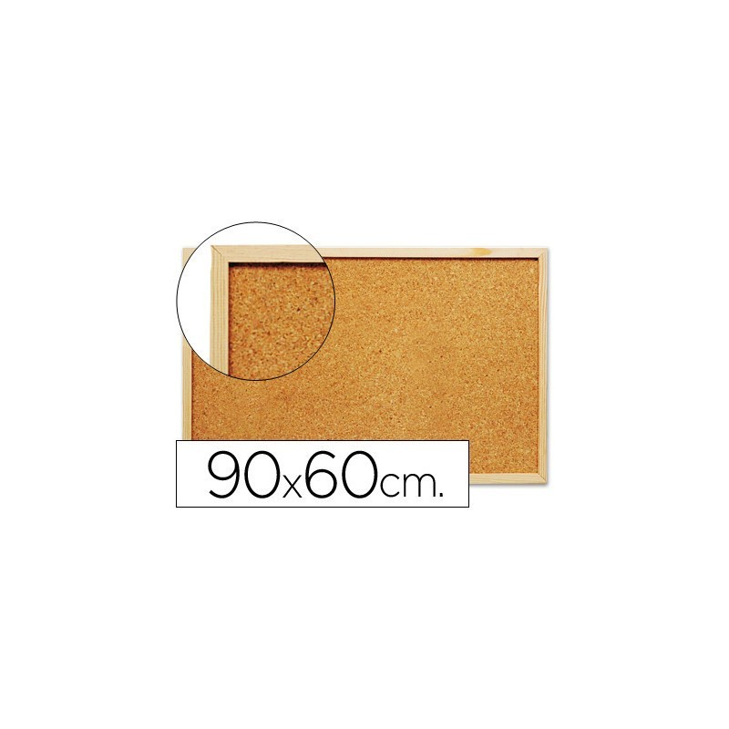 Quadro de cortiça c/ caixilho em madeira 600 x 900 mm