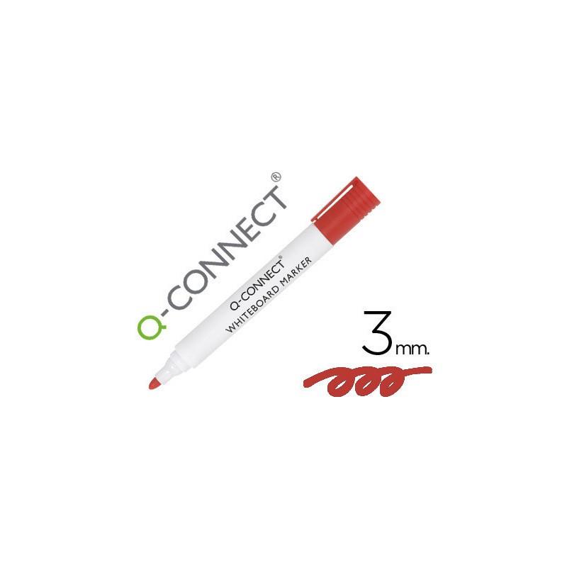 Marcador quadro branco vermelho ponta redonda Cx. 10